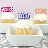 Personalized Classic Text Cupcake Topper