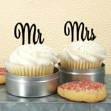 Mr & Mrs Cupcake Topper (Set of 2) - Sample