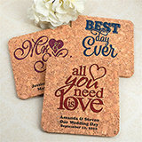 Personalized Square Cork Coasters