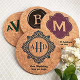 Personalized Round Cork Coasters