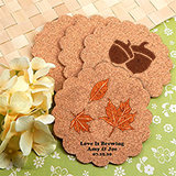 Personalized Scalloped Cork Coasters