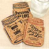 Personalized Mason Jar Cork Coaster