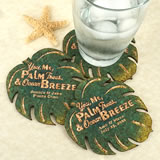 Personalized Palm Leaf Cork Coaster