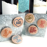 """Inspirational"" Wooden Nickel Magnets (Set of 36) - 15 Colors Options"