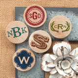 Monogram Wooden Nickel Magnets