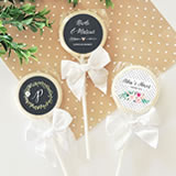 Personalized Floral Garden Lollipop Favors