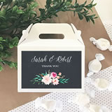 Personalized Floral Garden Mini Gable Boxes (set of 12)
