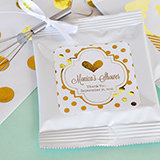 Personalized Metallic Foil Hot Cocoa + Optional Heart Whisk - Baby