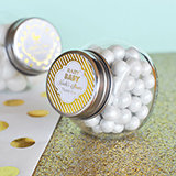 Personalized Metallic Foil Candy Jars - Baby