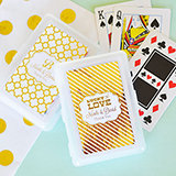 Personalized Metallic Foil Playing Cards - Wedding