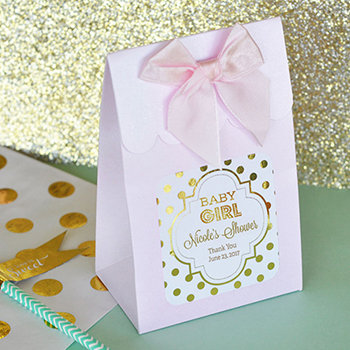 Sweet Shoppe Candy Boxes - Metallic Foil Baby Shower (set of 12)