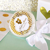 Personalized Metallic Foil Lollipop Favors - Baby