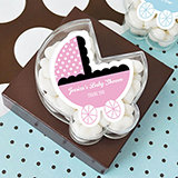 Carried with Love Baby Carriage Acrylic Favor Boxes