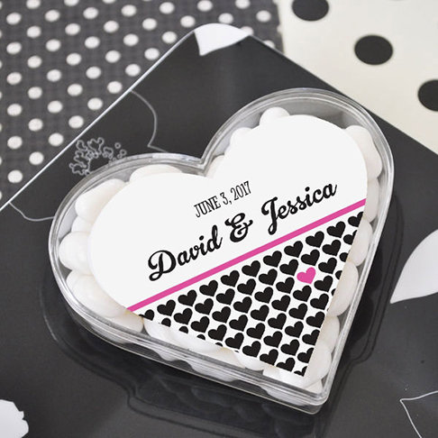 Clearly in Love Heart Acrylic Favor Boxes