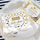 Personalized Metallic Foil Jelly Bean Packs - Wedding