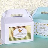 Personalized Metallic Foil Mini Gable Boxes (set of 12) - Baby