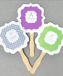 Personalized Paddle Fans - MOD Pattern Monogram