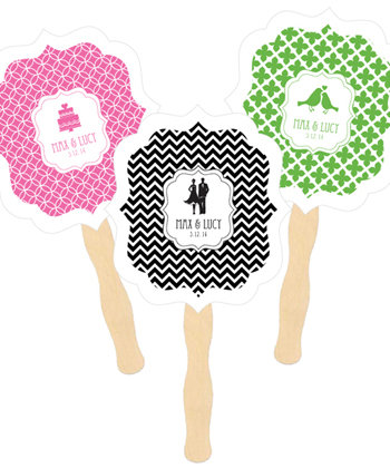 Personalized Paddle Fans - MOD Pattern Theme