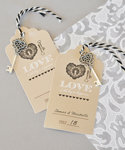 """Key to Happiness"" Escort Cards"