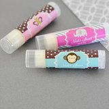 Personalized Baby Animal Lip Balm Tubes