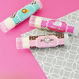 Personalized Baby Shower Lip Balm Tubes