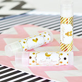 Personalized Metallic Foil Lip Balm Tubes - Baby