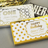 Personalized Metallic Foil Candy Wrapper Covers - Birthday