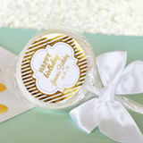 Personalized Metallic Foil Lollipop Favors - Birthday