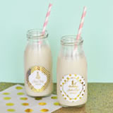 Personalized Metallic Foil Milk Bottles  - Birthday