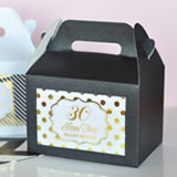 Personalized Metallic Foil Mini Gable Boxes (set of 12) - Birthday