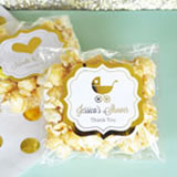 Personalized Metallic Foil Caramel Popcorn - Baby