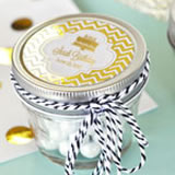 Personalized Metallic Foil Small 4 oz Mason Jars - Birthday