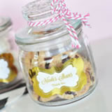Personalized Metallic Foil Mini Cookie Jars - Baby