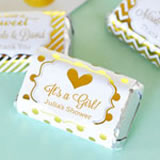 Personalized Metallic Foil Mini Candy Bar Wrappers - Baby