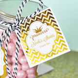 "Personalized Metallic Foil 2"" Square Favor Labels & Tags - Baby"