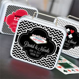 """A Lucky Pair"" Personalized Vegas Suitcase Tins"