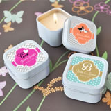 Personalized Square Candle Tin Favors