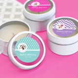 MOD Pattern Kid's Birthday Round Candle Tins