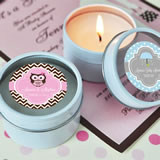 Personalized Round Candle Tin Favors