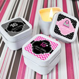 Sweet Sixteen (or 15) Square Candle Tins