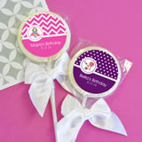 MOD Pattern Kid's Birthday Lollipop Favors