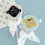 Something Sweet Theme Personalized Lollipop Favors