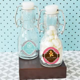 """A Winter Holiday"" Personalized Mini Glass Bottles"