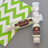 """Fall for Love"" Personalized Candy Tubes"