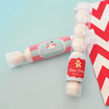 """A Winter Holiday"" Personalized Candy Tubes"