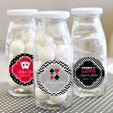 """A Lucky Pair"" Personalized Milk Bottles"
