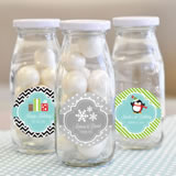 """A Winter Holiday"" Personalized Milk Bottles"