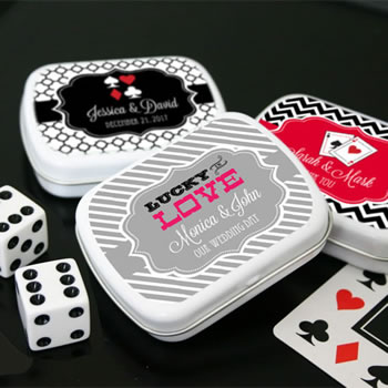 Casino Themed Mint Tin Favors