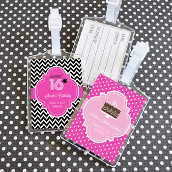 Sweet Sixteen (or 15) Acrylic Luggage Tags