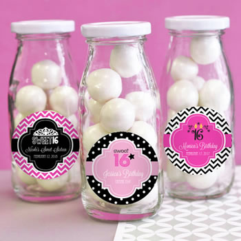 Sweet Sixteen (or 15) Personalized Milk Bottles